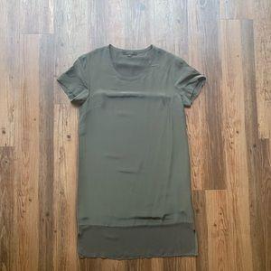 AllSaints silk shift dress - grey, size small